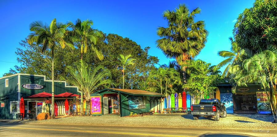 Tropical Rush Surf Shop Haleiwa Oahu Hawaii Art by Reid Callaway