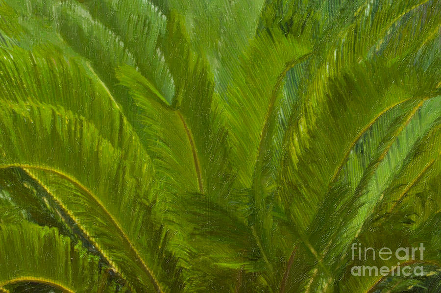 Tropical Sago Palm Painting
