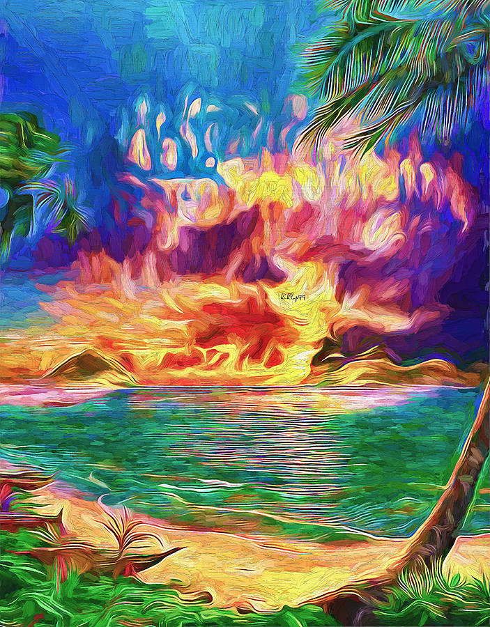 Tropical Sunset 2 Painting