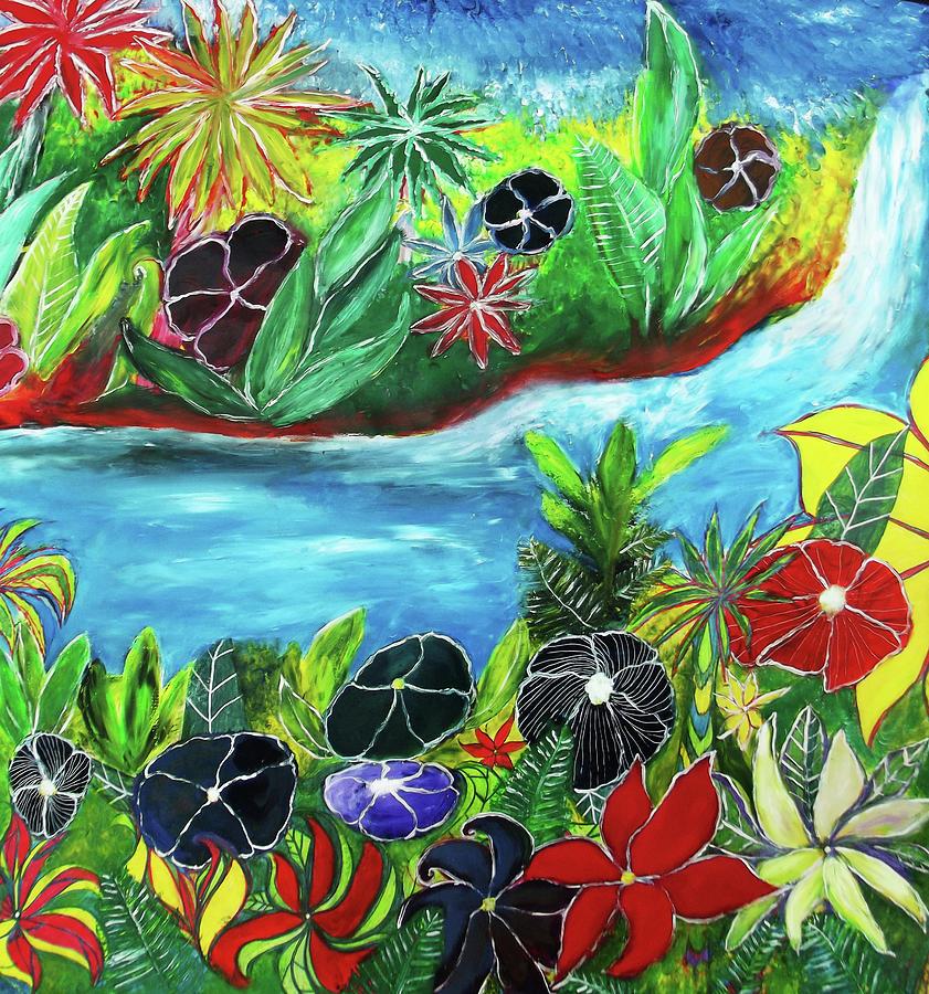 Tropical Waterfall by Melinda Firestone-White