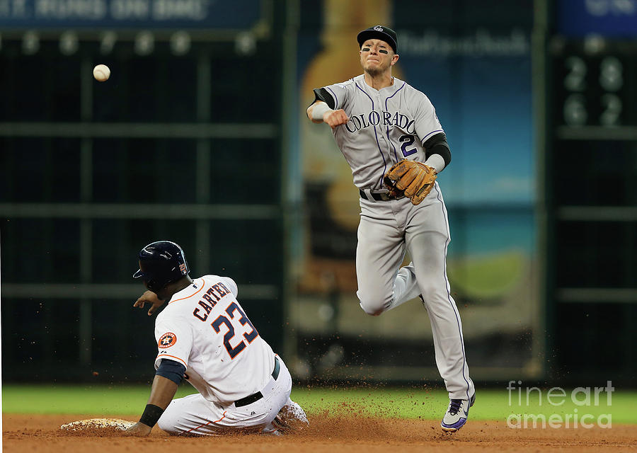 Troy Tulowitzki and Chris Carter Photograph by Scott Halleran