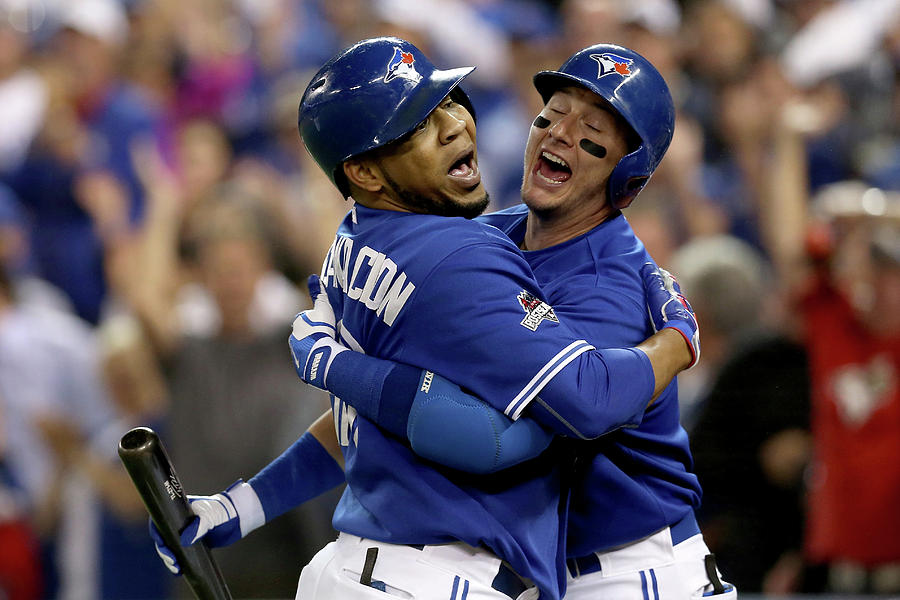 Troy Tulowitzki And Edwin Encarnacion Photograph by Vaughn Ridley