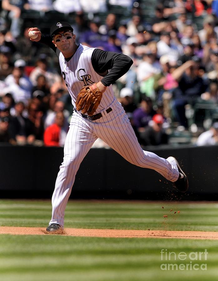 Troy Tulowitzki Photograph by Steve Dykes