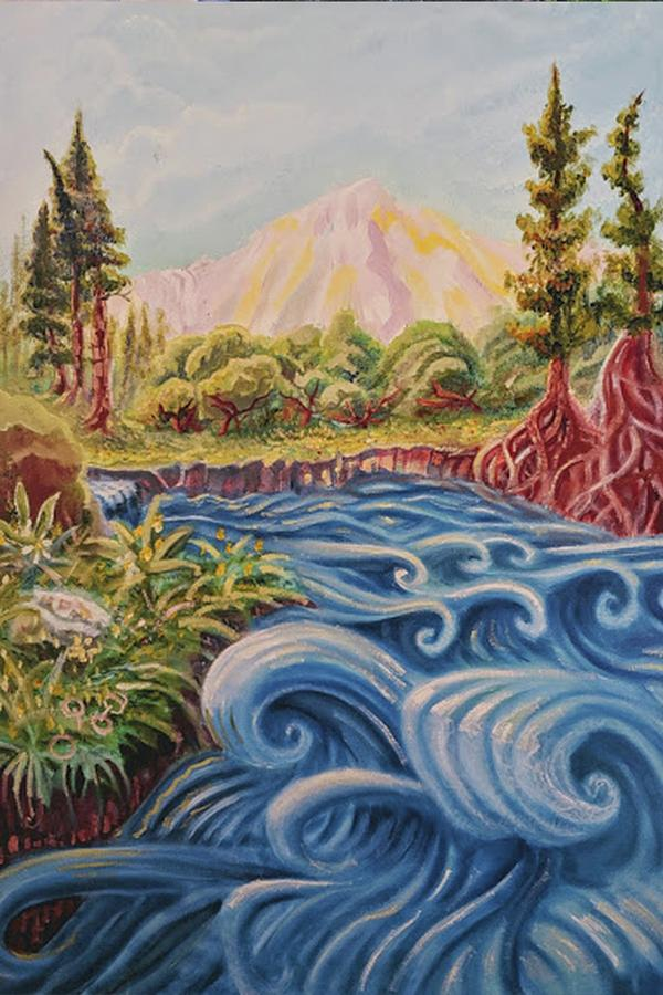 Truckee Painting - Truckee River Afternoon by Craig Newman
