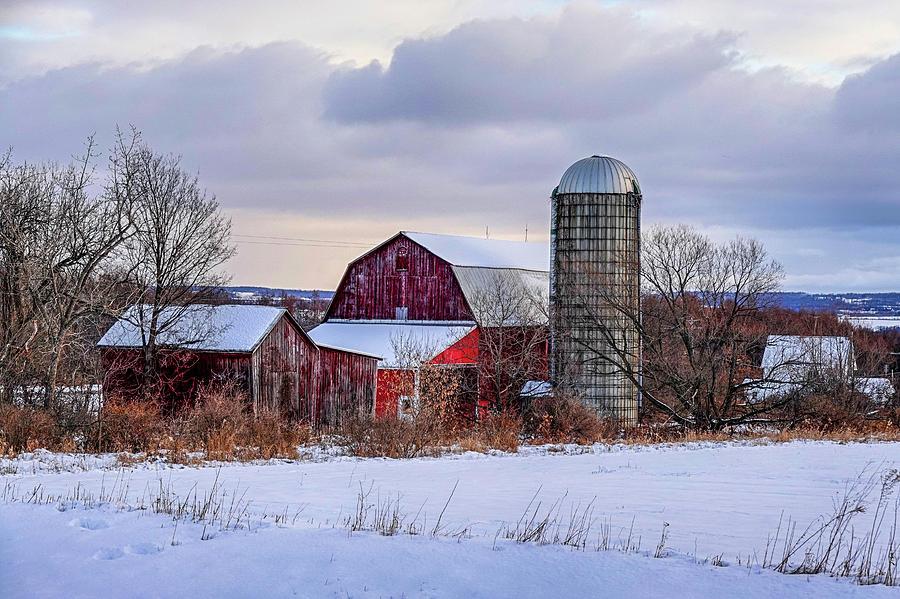 Trumansburg NY Winter Farm Snow by Toby McGuire