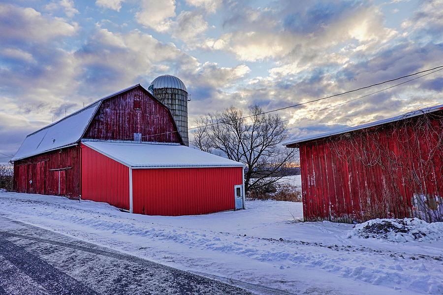Trumansburg NY Winter Farm by Toby McGuire