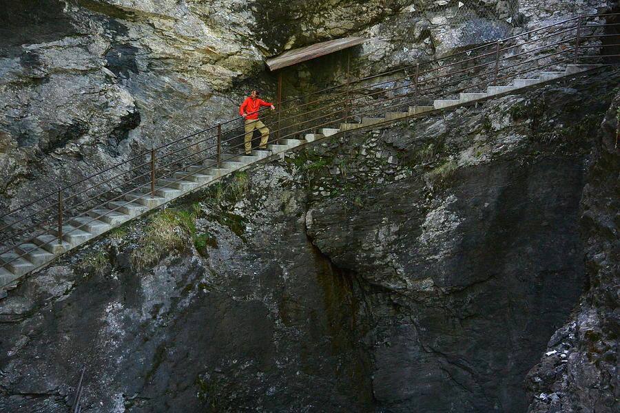 Waterfall Photograph - Trummelbach Falls Steps - Switzerland by Two Small Potatoes