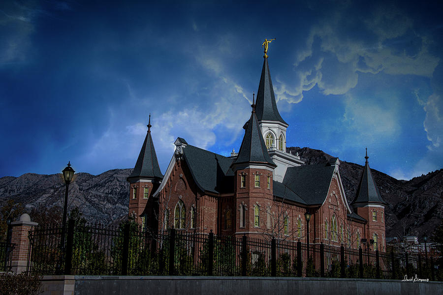 Provo City Center Temple Photograph - Trusting In by David Simpson