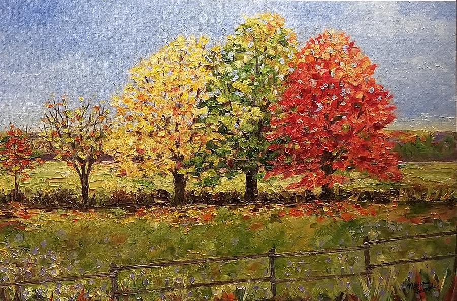 Nature Painting - Ts Trees by Monica Ironside