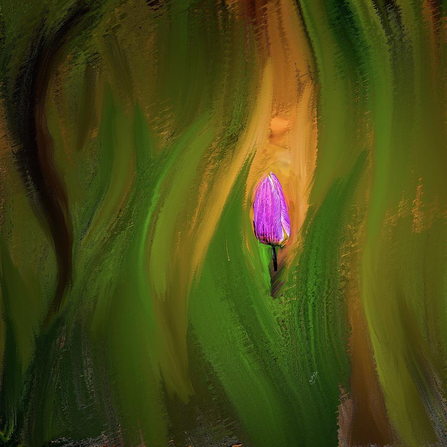 Tulip Lilac 1 #k0 Mixed Media
