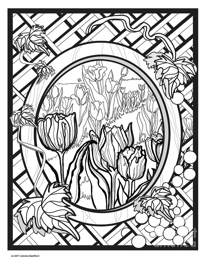 Tulip Time Drawing