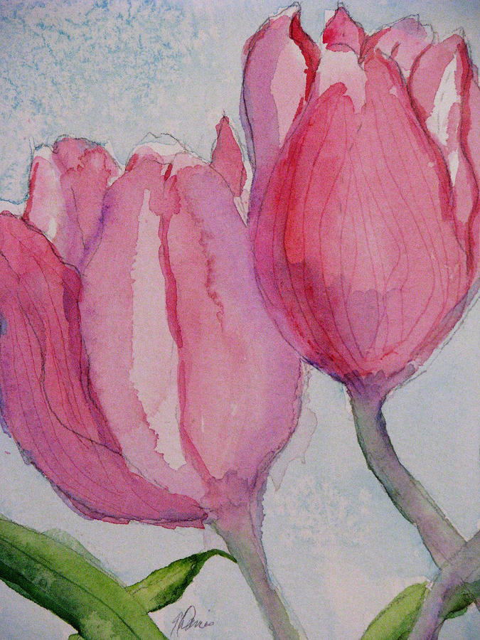 Tulips Entwined by Angela Davies