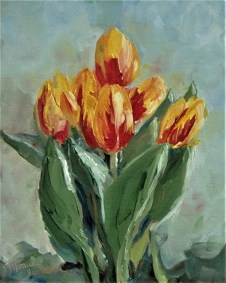 Impressionist Painting - Tulips by Monica Ironside