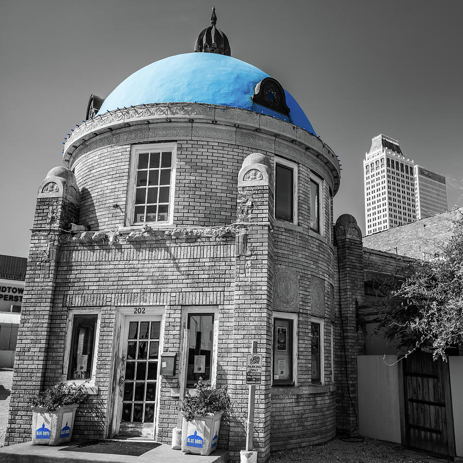 Tulsa Ok Blue Dome District - Selective Coloring Photograph