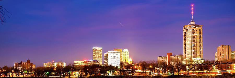 Tulsa Oklahoma University Tower And City Skyline Panorama Photograph