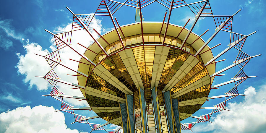 Tulsa Prayer Tower Panorama Crown Of Thorns Photograph