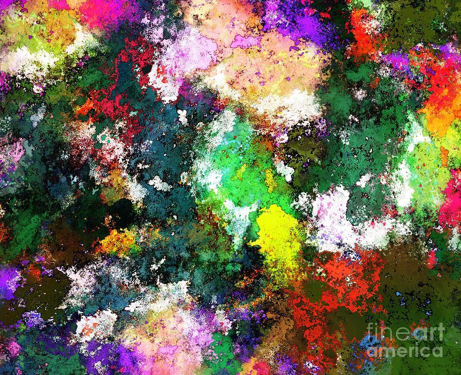 Splash Digital Art - Tumbling Down by Keith Mills
