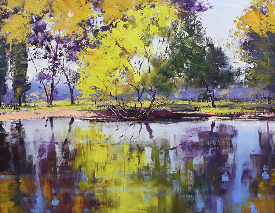 Tumut River Reflections Painting