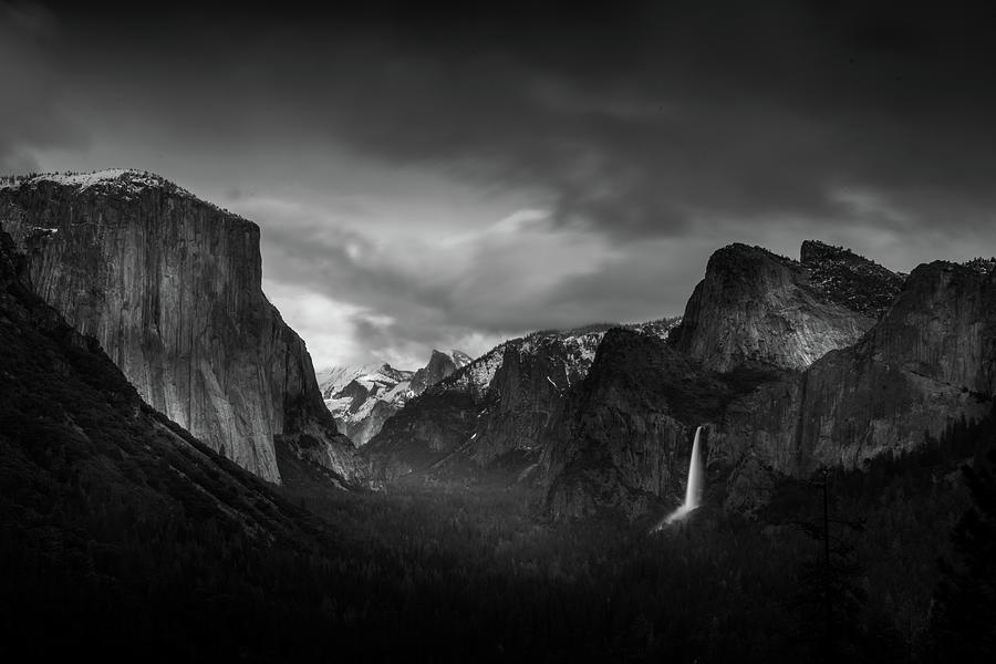 Ansel Adams Photograph - Tunnel View in Yosemite by Serge Ramelli