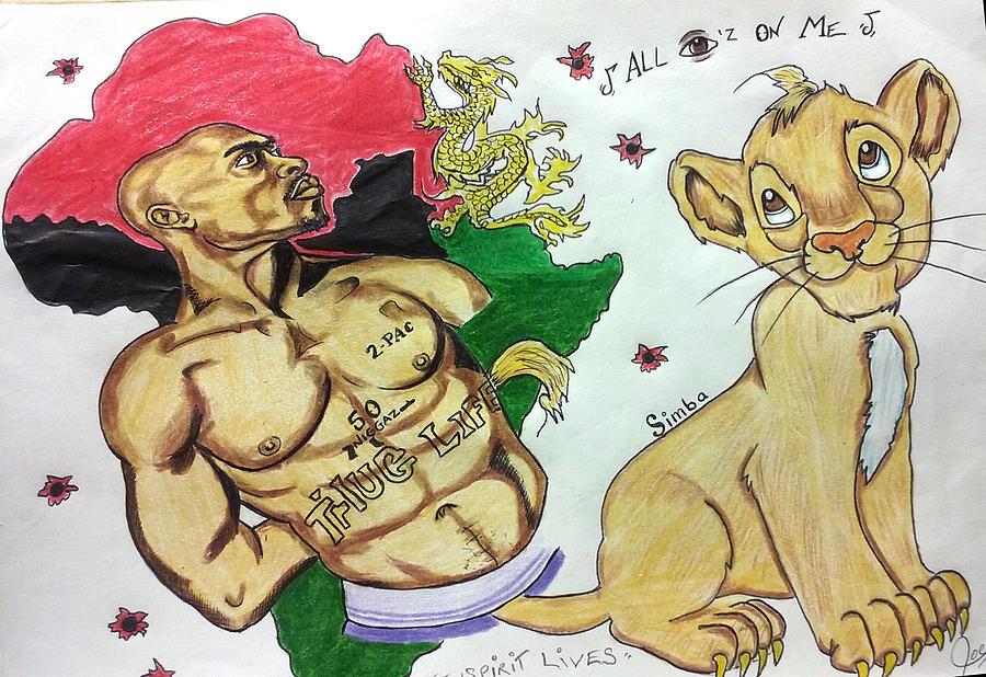 Tupac and Simba by Joedee