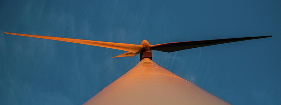 Turbine blades at Sunset by Max Blinkhorn
