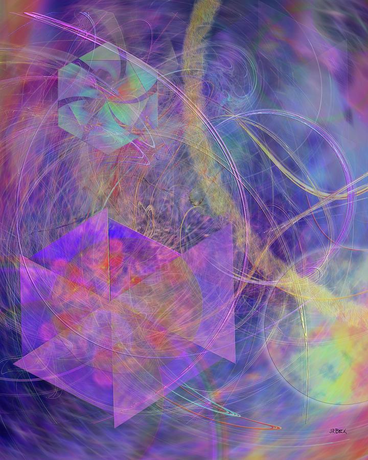 Abstract Digital Art - Turbo Blue by John Robert Beck