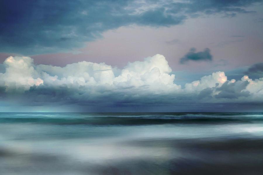Abstract Beach Photograph -  Turbulent Tide by Az Jackson