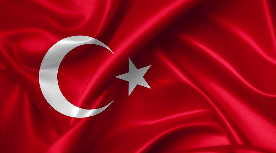 Turkey Photograph - Turkey Flag by NoMonkey B