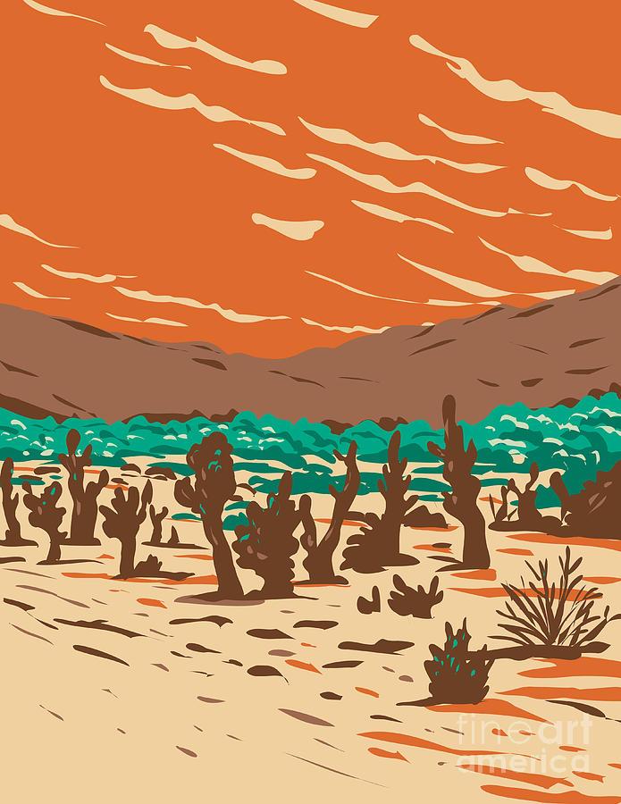 Turkey Flats Sand Dunes Located In Joshua Tree National Park In California Wpa Poster Art Digital Art