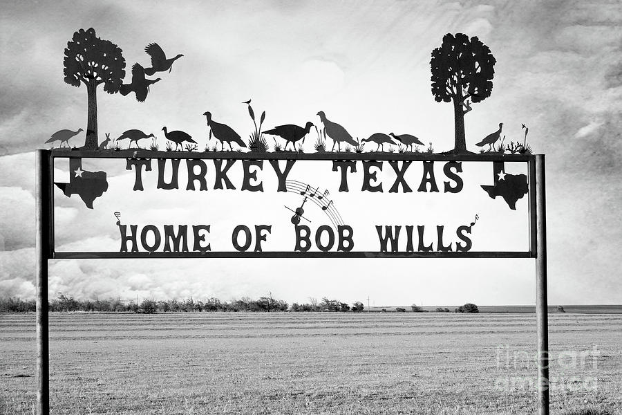 Turkey Texas Metal Sign  by Imagery by Charly