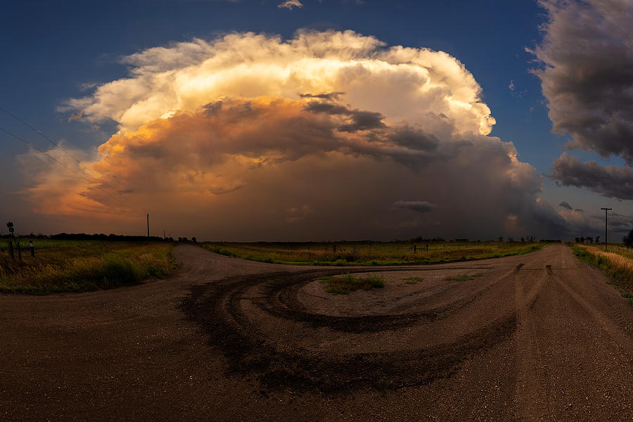 Severe Thunderstorm Photograph - Turn Around by Aaron J Groen