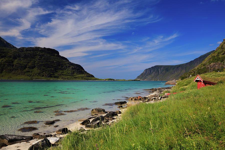 Turquoise Beach Flakstadoya Photograph