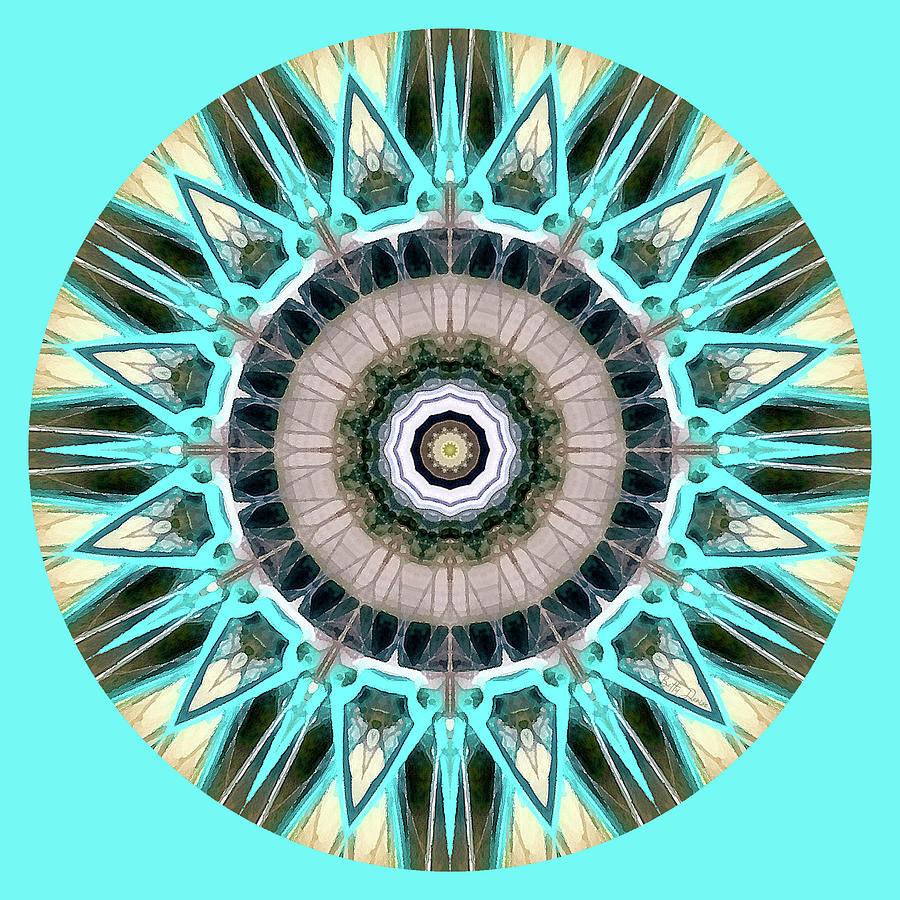Turquoise Mandala by Betty Denise