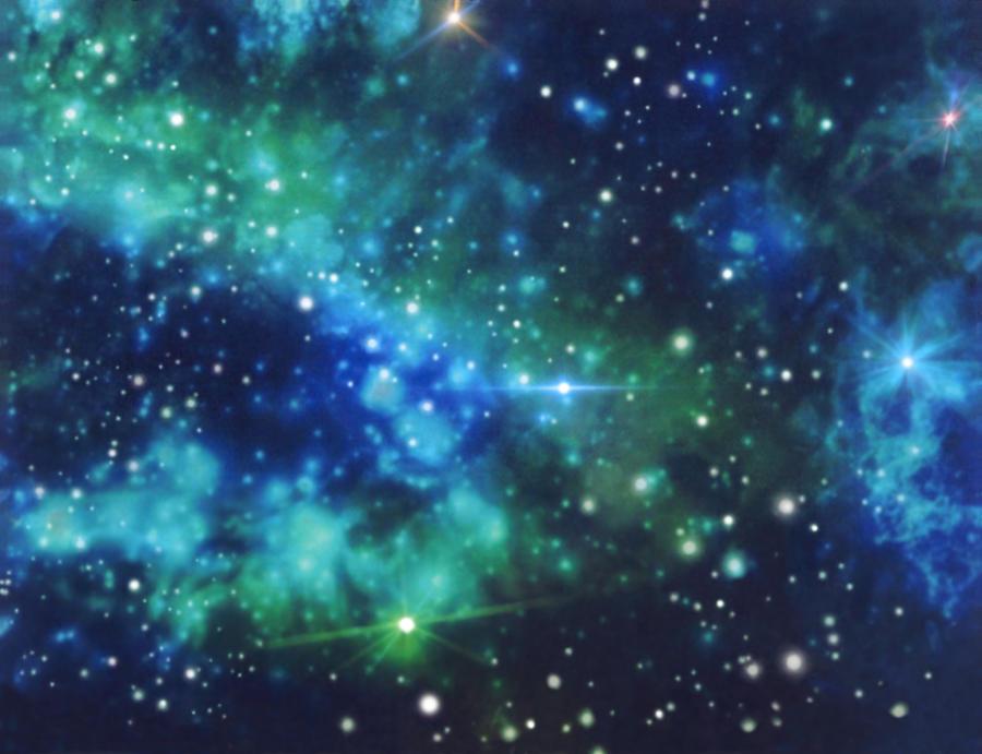 Galaxy Digital Art - Turquoise Nebula by Mary J Winters-Meyer