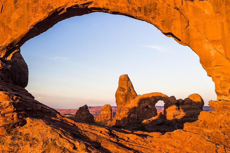 3scape Photograph - Turret Arch at Sunrise by Adam Romanowicz