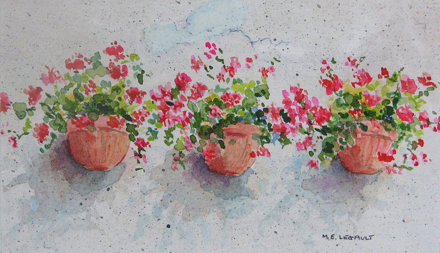 Florals Painting - Tuscan Flowers by Mary Ellen Mueller Legault