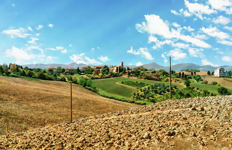 Tuscany Landscape Setting by Anthony Dezenzio