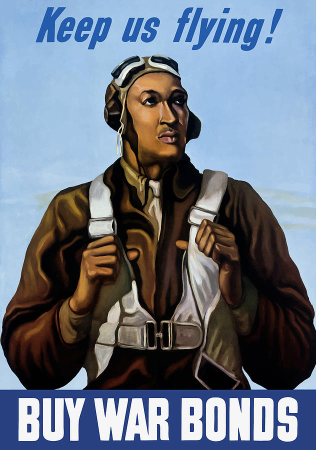 Tuskegee Airmen - Keep Us Flying - WW2 by War Is Hell Store