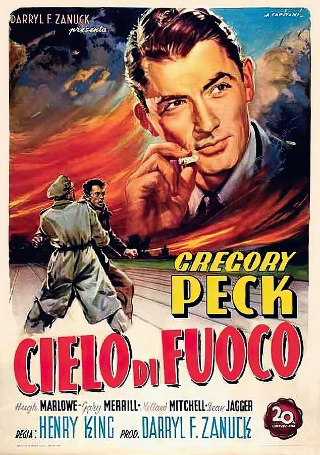 twelve Oclock High, With Gregory Peck, 1949 Mixed Media