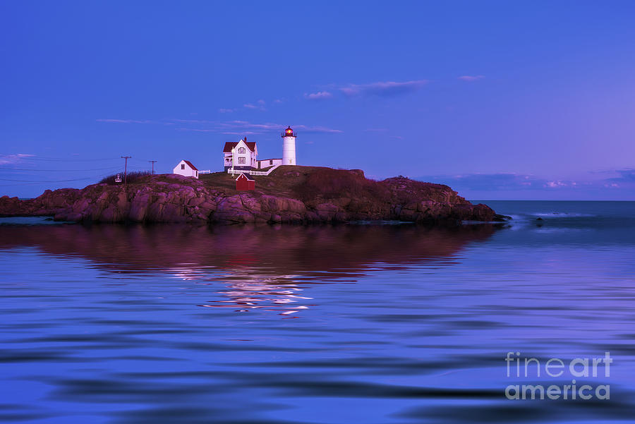 Twilight at Nubble Lighthouse by Sharon Seaward