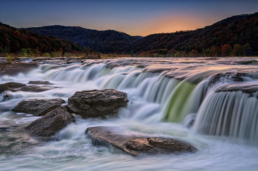 Twilight at Sandstone Falls by Rick Berk