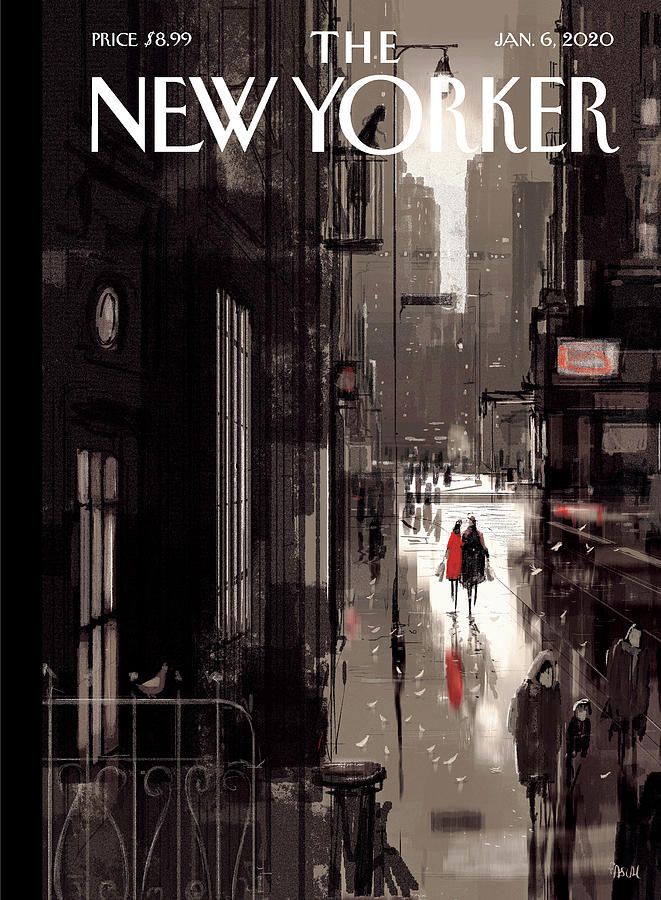 Twilight Avenue Drawing by Pascal Campion