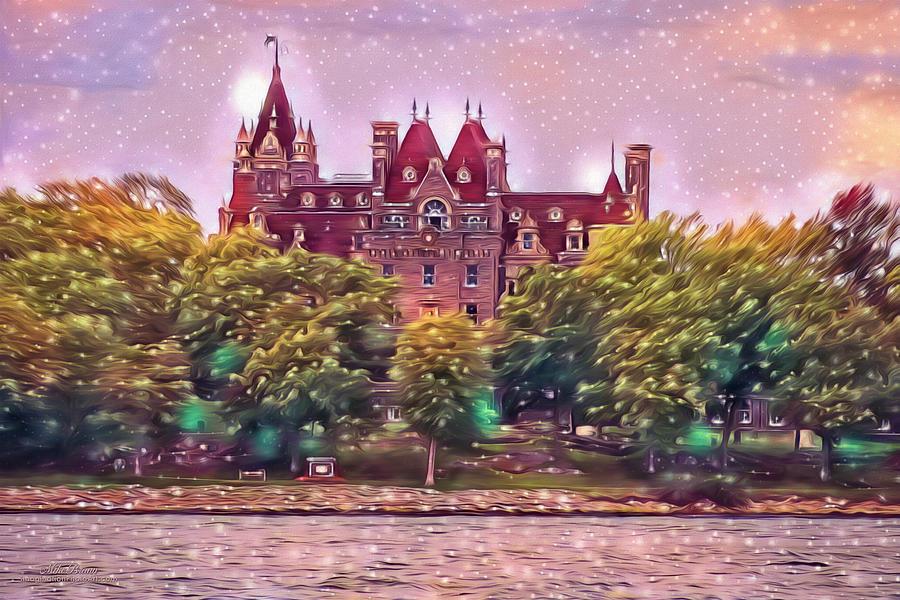 Twilight Digital Art - Twilight Blizzard At Boldt Castle by Mike Braun
