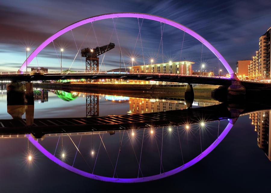 Clyde Arc Photograph - Twilight Bridge by Grant Glendinning
