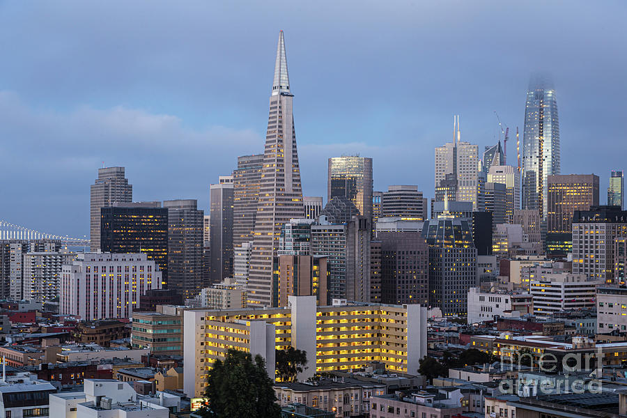 twilight over San Francisco downtown and financial district from by Didier Marti