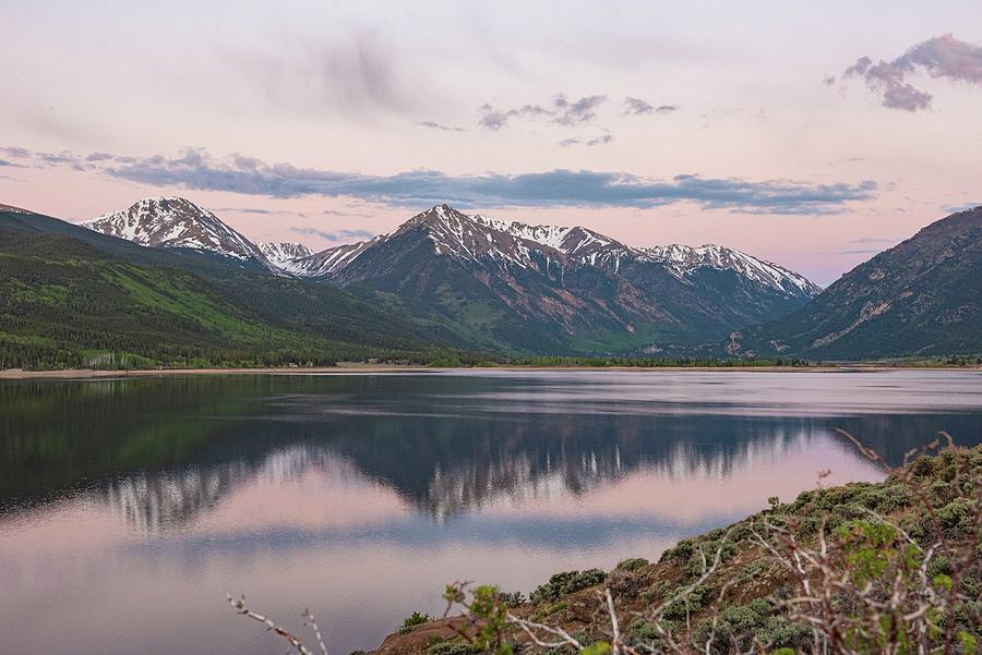 Twin Lakes Colorado Mt Elbert Photograph