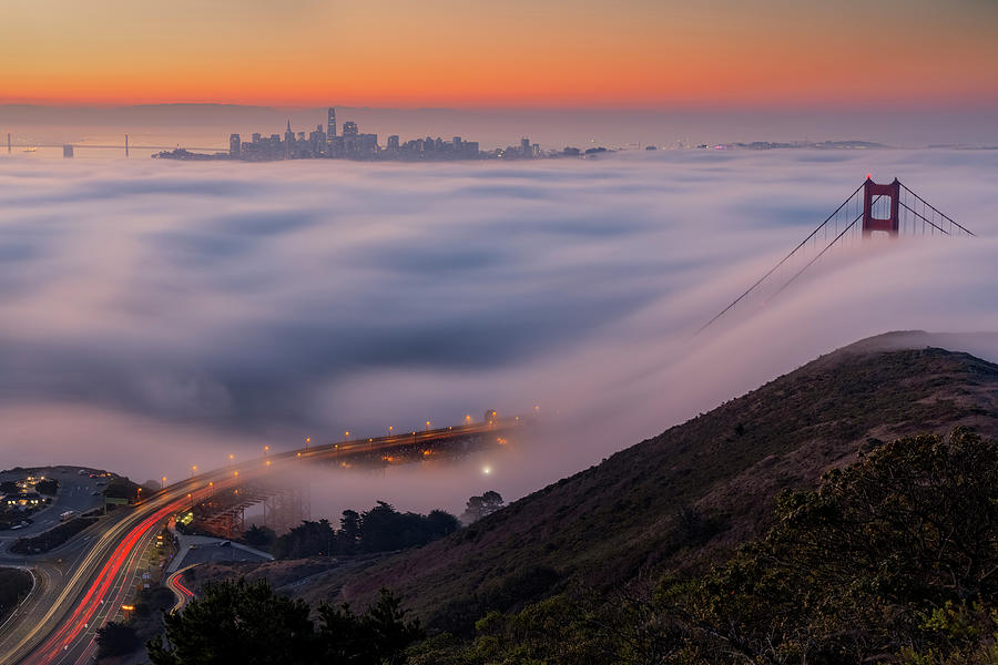 Twists and Turns - San Francisco Fog Photograph by Vincent James