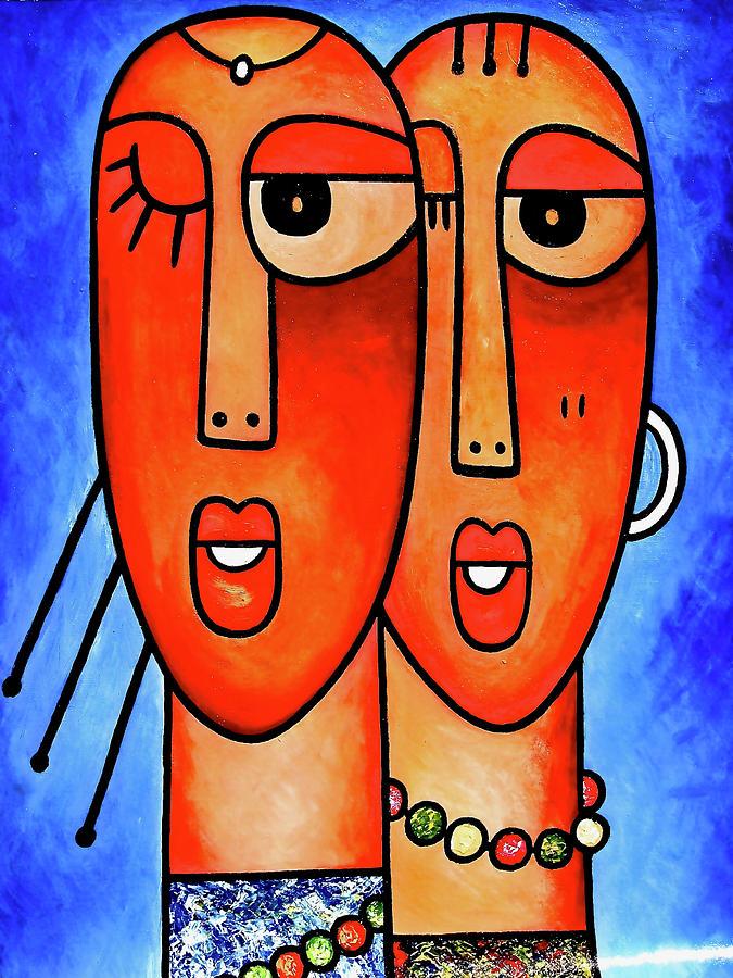 Two Beauties - 1  by Elisha Ongere