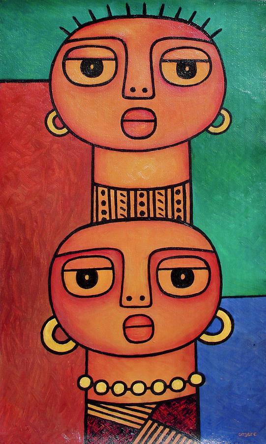 Two Beauties - 2 by Elisha Ongere