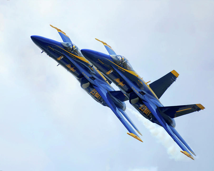 Two Blue Angels In Formation by Gigi Ebert